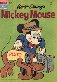 Cover Thumbnail for Walt Disney's Mickey Mouse (W. G. Publications; Wogan Publications, 1956 series) #34