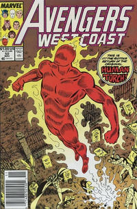 Cover Thumbnail for Avengers West Coast (Marvel, 1989 series) #50 [Newsstand Edition]