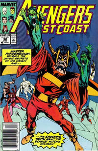 Cover Thumbnail for Avengers West Coast (Marvel, 1989 series) #52 [Newsstand Edition]