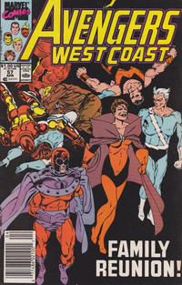 Cover Thumbnail for Avengers West Coast (Marvel, 1989 series) #57 [Newsstand Edition]
