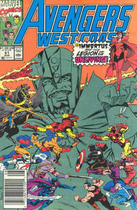 Cover Thumbnail for Avengers West Coast (Marvel, 1989 series) #61 [Newsstand Edition]