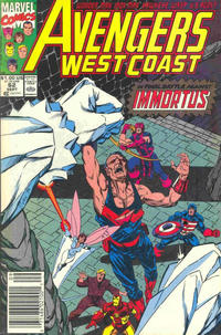 Cover Thumbnail for Avengers West Coast (Marvel, 1989 series) #62 [Newsstand Edition]