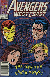Cover Thumbnail for Avengers West Coast (Marvel, 1989 series) #58 [Newsstand Edition]