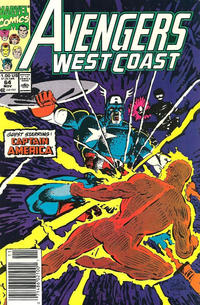Cover for Avengers West Coast (Marvel, 1989 series) #64 [Direct Edition]