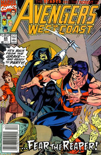 Cover Thumbnail for Avengers West Coast (Marvel, 1989 series) #65 [Newsstand Edition]