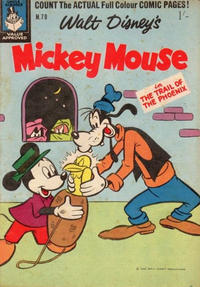 Cover Thumbnail for Walt Disney's Mickey Mouse (W. G. Publications; Wogan Publications, 1956 series) #70