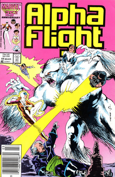 Cover for Alpha Flight (Marvel, 1983 series) #44 [Newsstand Edition]