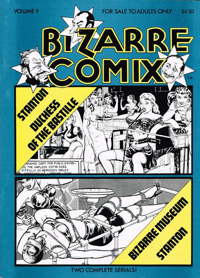 Cover for Bizarre Comix (Bélier Press, 1975 series) #9 - Duchess of the Bastille; Bizarre Museum