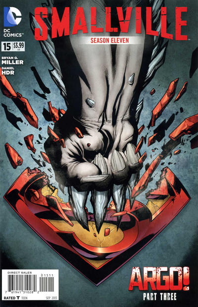 Cover for Smallville Season 11 (DC, 2012 series) #15