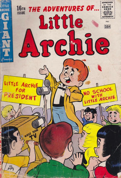 Cover for Little Archie Giant Comics (Archie, 1957 series) #16 [Canadian Price Variant]