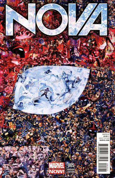 Cover for Nova (Marvel, 2013 series) #5 [Pascal Garcin Collage Variant]