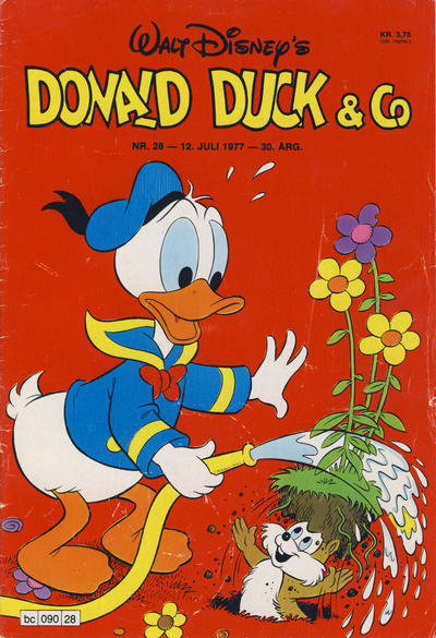 Cover for Donald Duck & Co (Hjemmet / Egmont, 1948 series) #28/1977