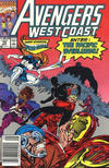 Cover Thumbnail for Avengers West Coast (1989 series) #70 [Newsstand Edition]