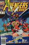 Cover for Avengers West Coast (Marvel, 1989 series) #68 [Newsstand]