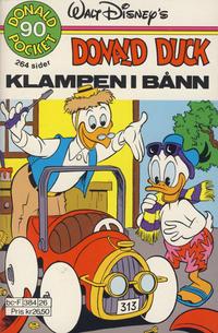 Cover Thumbnail for Donald Pocket (Hjemmet / Egmont, 1968 series) #90 - Donald Duck Klampen i bånn [Reutsendelse]