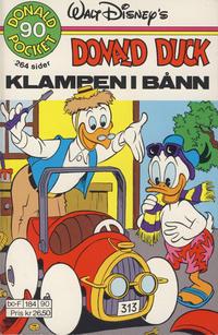 Cover Thumbnail for Donald Pocket (Hjemmet / Egmont, 1968 series) #90 - Donald Duck Klampen i bånn [1. opplag]