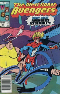Cover Thumbnail for West Coast Avengers (Marvel, 1985 series) #46 [Newsstand Edition]