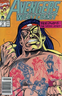 Cover for Avengers West Coast (Marvel, 1989 series) #72 [Direct Edition]