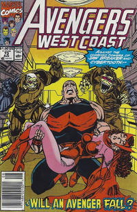Cover Thumbnail for Avengers West Coast (Marvel, 1989 series) #73 [Newsstand Edition]