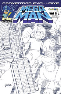 Cover Thumbnail for Mega Man (Archie, 2011 series) #14 [2012 SDCC Exclusive Sketch Variant by Patrick Spaziante]