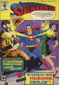 Cover Thumbnail for Stålmannen (Centerförlaget, 1949 series) #7/1968