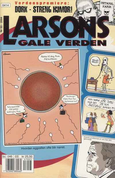 Cover for Larsons gale verden (Bladkompaniet / Schibsted, 1992 series) #3/2004