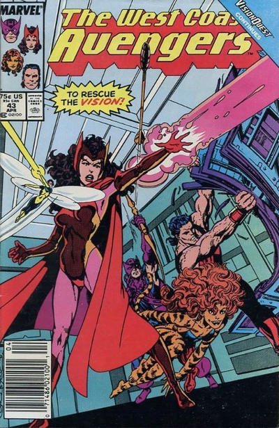 Cover for West Coast Avengers (Marvel, 1985 series) #43 [Direct]