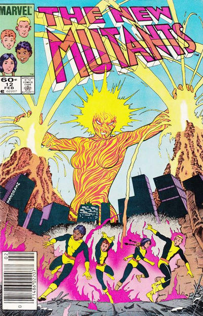Cover for The New Mutants (Marvel, 1983 series) #12 [Direct Edition]