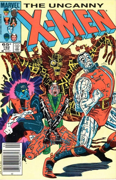 Cover for The Uncanny X-Men (Marvel, 1981 series) #192 [Newsstand]