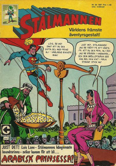 Cover for Stålmannen (Centerförlaget, 1949 series) #20/1967