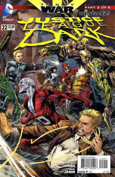 Cover for Justice League Dark (DC, 2011 series) #22 [Brett Booth / Norm Rapmund Cover]