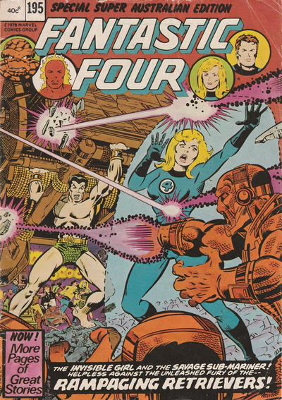 Cover for Fantastic Four (Yaffa / Page, 1979 ? series) #195