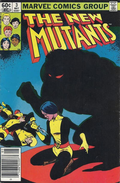 Cover for The New Mutants (Marvel, 1983 series) #3 [Direct Edition]