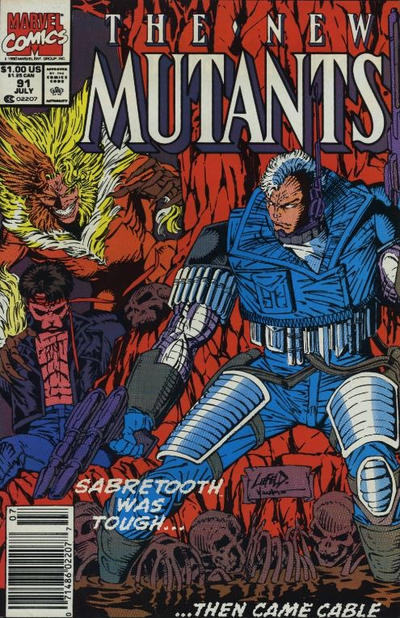 Cover for The New Mutants (Marvel, 1983 series) #91