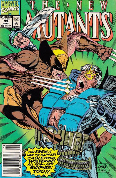 Cover for The New Mutants (Marvel, 1983 series) #93