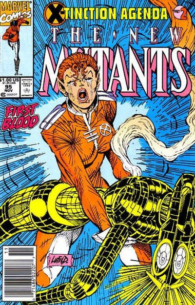 Cover for The New Mutants (Marvel, 1983 series) #95 [Second Printing]