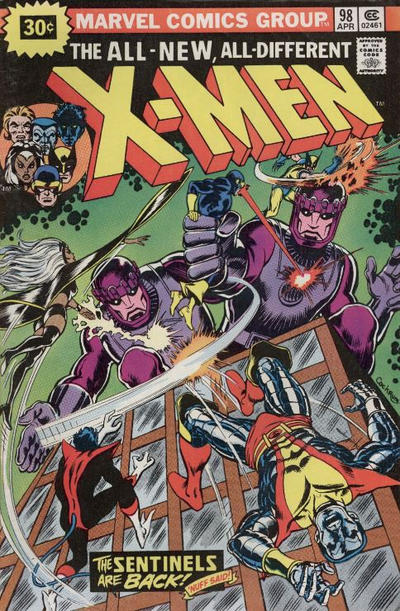 Cover for The X-Men (Marvel, 1963 series) #98 [25¢ Cover Price]