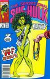 Cover for The Sensational She-Hulk (Marvel, 1989 series) #40 [Newsstand]