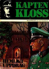 Cover Thumbnail for Kapten Kloss (Semic, 1971 series) #16 - Hemligt uppdrag