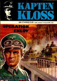 Cover Thumbnail for Kapten Kloss (Semic, 1971 series) #17 - Operation Eklöv
