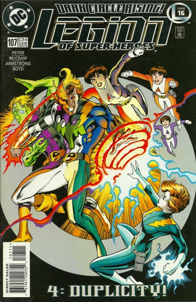Cover for Legion of Super-Heroes (DC, 1989 series) #107
