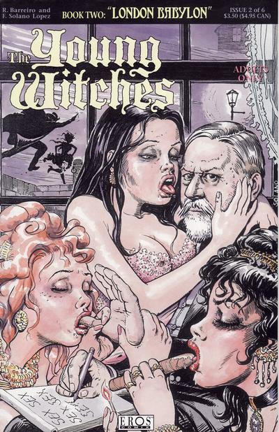 Cover for Young Witches: London Babylon (Fantagraphics, 1995 series) #2