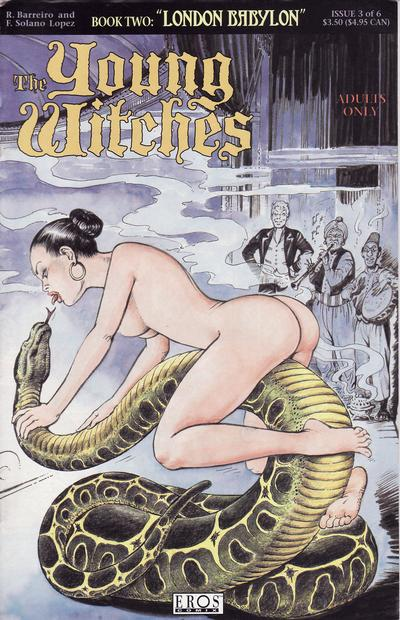 Cover for Young Witches: London Babylon (Fantagraphics, 1995 series) #3