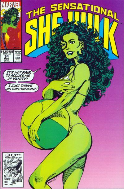 Cover for The Sensational She-Hulk (Marvel, 1989 series) #34