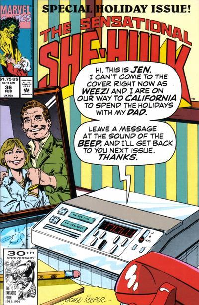 Cover for The Sensational She-Hulk (Marvel, 1989 series) #36