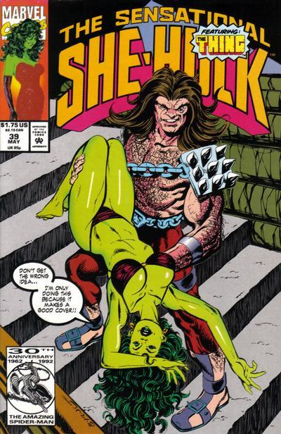 Cover for The Sensational She-Hulk (Marvel, 1989 series) #39