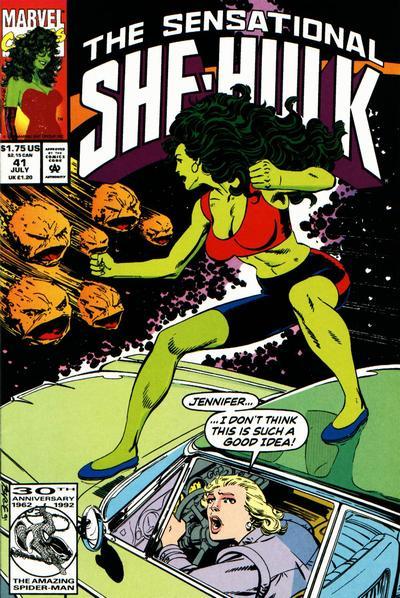Cover for The Sensational She-Hulk (Marvel, 1989 series) #41