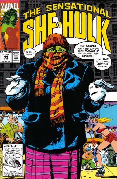 Cover for The Sensational She-Hulk (Marvel, 1989 series) #44
