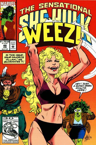 Cover for The Sensational She-Hulk (Marvel, 1989 series) #48
