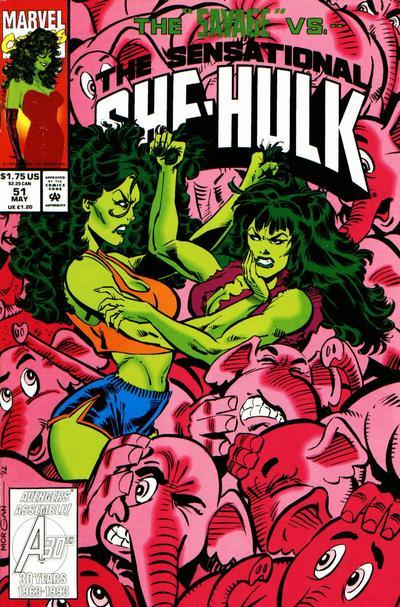 Cover for The Sensational She-Hulk (Marvel, 1989 series) #51